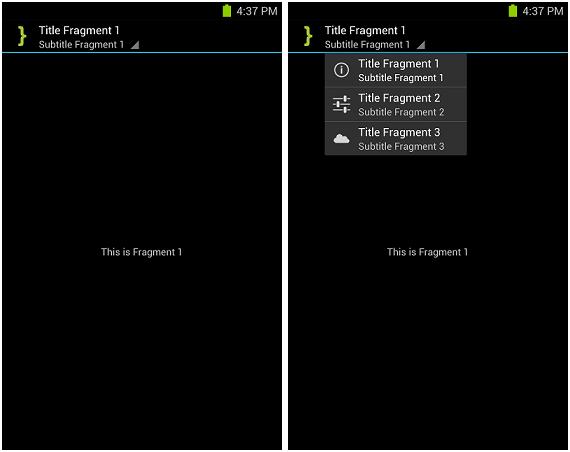 ABS List Navigation Screenshot
