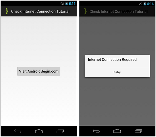 CheckInternetConnection ScreenShots