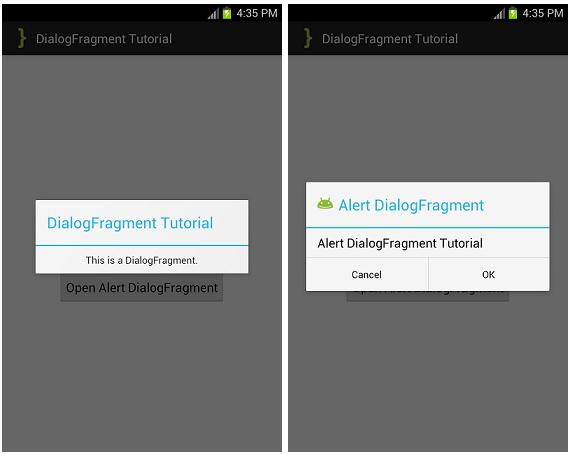DialogFragment ScreenShots
