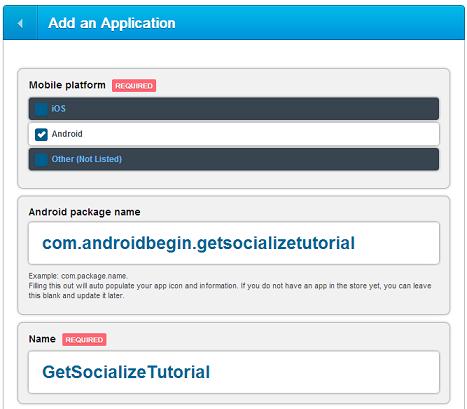 GetSocialize Create App