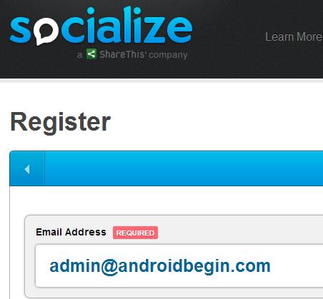 GetSocialize Register