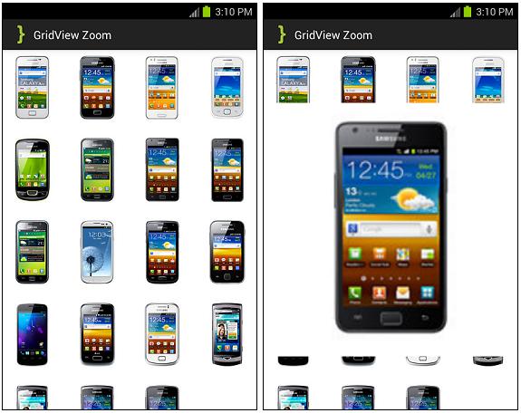 GridView Zoom ScreenShot