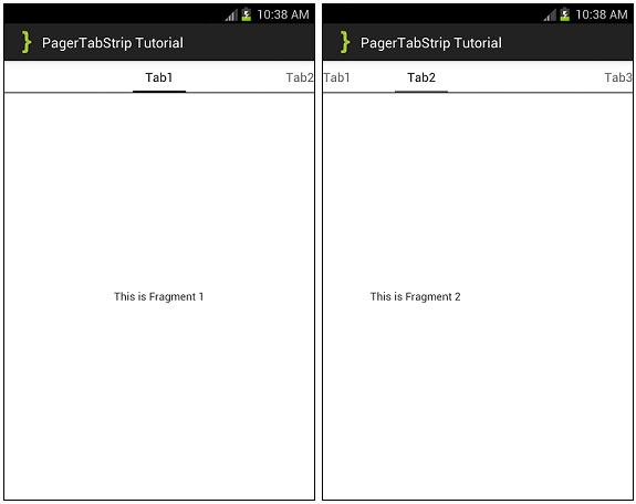 PagerTabStrip ScreenShots