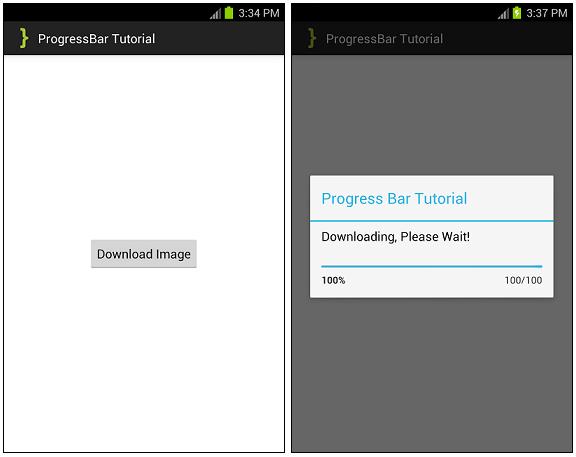 ProgressBar Tutorial ScreenShots