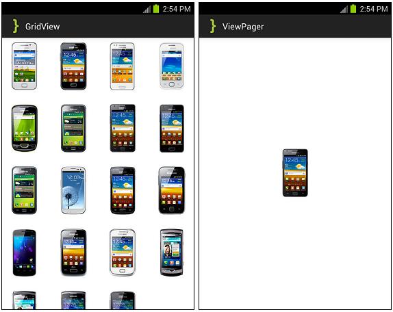ViewPagerGridView ScreenShot