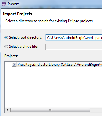 ViewPagerIndicator Import Library