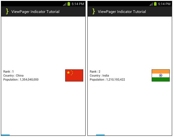 ViewPagerIndicator ScreenShots